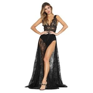 Dresses & Skirts - Sexy Lace Sleeveless Gown Dress